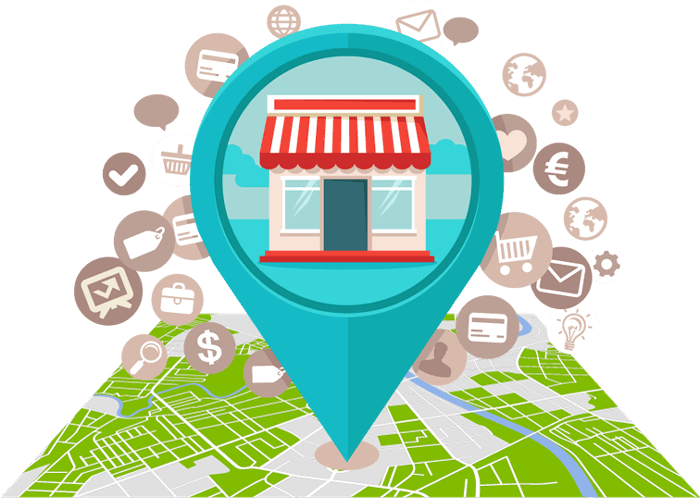 how to market a franchise, local SEO tools with a location pin